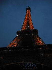 Nacht, Architektur, Paris, Eiffelturm