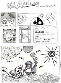 Comic, Wolken, Abstecher, Zeichnungen