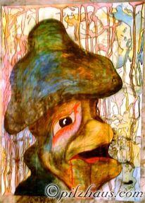 Pilze, Surreal, Struktur, Malerei