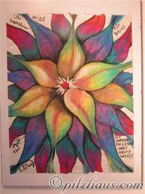 Malerei, Weltblume, Blumen, Welt