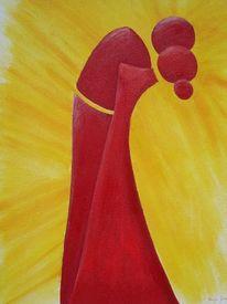 Malerei, Abstrakt, Kuss