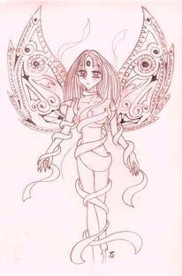 Manga, Skizze, Fee, Zeichnung