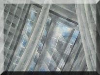 Malerei, Abstrakt, Fenster