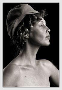 Profil, Frau, Menschen, Hut