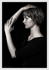 Profil, Frau, Fotografie, Monochrom