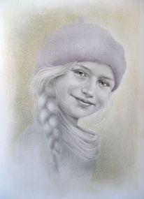 Bleistiftzeichnung, Mischtechnik, Kinderportrait, Zeichnen