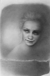Rahmen, Zeichnung, Fallen, Portrait