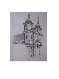 Zeichnung, Zeichnungen, Kirche