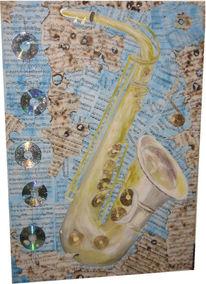 Saxofon, Musik, Instrument, Malerei