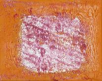 Malerei, Brummer, Silber, Abstrakt