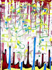Abstrakt, Malerei, Trocken,