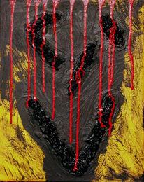 Zechen, Abstrakt, Kohlezeichnung, Malerei