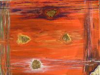 Geradelinigkeit, Abstrakt, Gold, Malerei