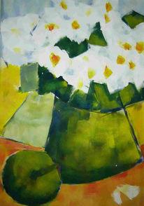 Malerei, Stillleben, Apfel