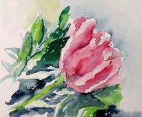 Stillleben, Rosa, Blumen, Malerei