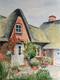 Friese, Malerei, Haus, Klinker