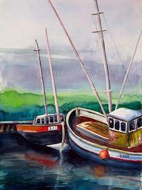 Wasser, Hafen, Malerei, Landschaft
