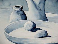 Krug, Stillleben, Malerei, Weiß