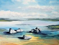 Watt, Ebbe, Aquarellmalerei, Landschaft
