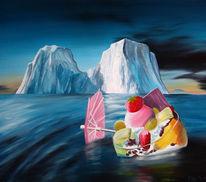 Eisberg, Malerei, Eis, Surreal