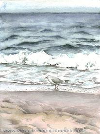 Erholung, Landschaft, Malerei, Meer