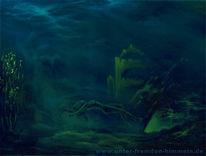 Malerei, Atlantis, Meer, Ertrunken