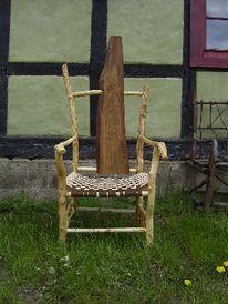 Kunsthandwerk, Wildholz, Naturholz, Stuhl
