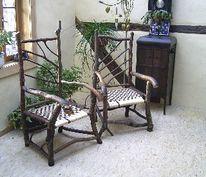 Stuhl, Kunsthandwerk, Naturholz, Möbel