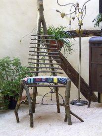 Kunsthandwerk, Stuhl, Esche, Holz