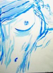 Akt, Acrylmalerei, Brust, Malerei