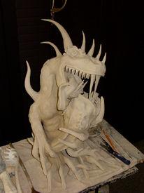 Keramik, Kunsthandwerk, Drache, Schlange