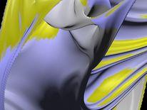Digital, Abstrakt, Digitale kunst, Gelb