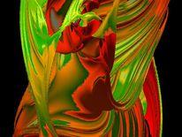 Abstrakt, Digital, Digitale kunst, Grün