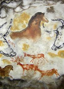 Reh, Pferde, Hirsch, Höhle