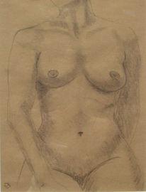 Akt, Frau, Figural, Malerei