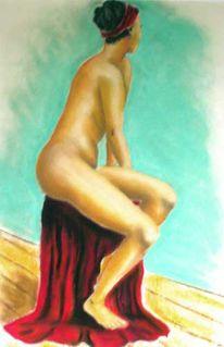 Ölmalerei, Frau, Akt, Figural
