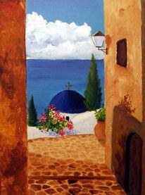 Klischee, Griechenland, Malerei, Landschaft