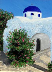 Landschaft, Blau, Griechenland, Klischee