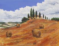 Klischee, Malerei, Toskana, Landschaft