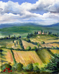 Landschaft, Toskana, Klischee, Malerei