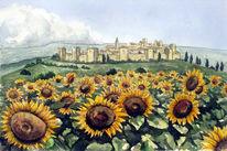 Landschaft, Klischee, Toskana, Malerei