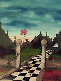 Berge, Fantasie, Surreal, Malerei
