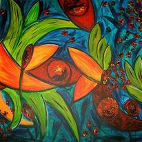 Abstrakt, Pflanzen, Malerei, Urwald