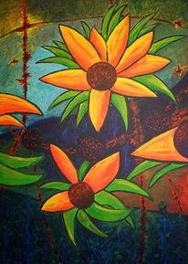 Urwald, Pflanzen, Abstrakt, Malerei
