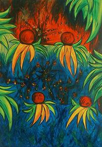 Abstrakt, Malerei, Urwald, Pflanzen