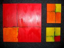 Malerei, Farbraum, Abstrakt, Rot
