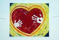 Malerei, Hand, Herz
