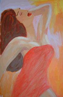 Schönheit, Frau, Exotisch, Malerei