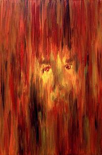 Orange, Gesicht, Malerei, Menschen