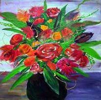 Energie, Abstrakt, Blumen, Blumenstraus